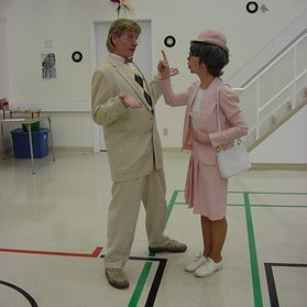 50s Sock Hop - The New Teacher and the Principal
